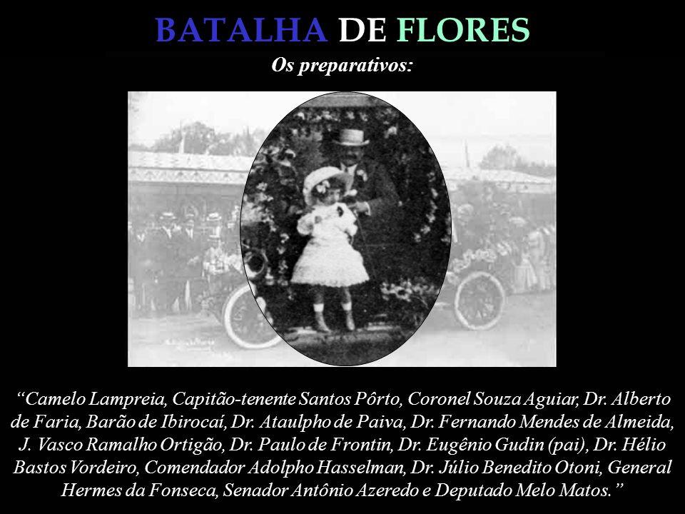 BATALHA DE FLORES Francisco Pereira Passos, Prefeito do Distrito Federal no quatriênio do Presidente Francisco de Paula Rodrigues Alves (1902-1906), n