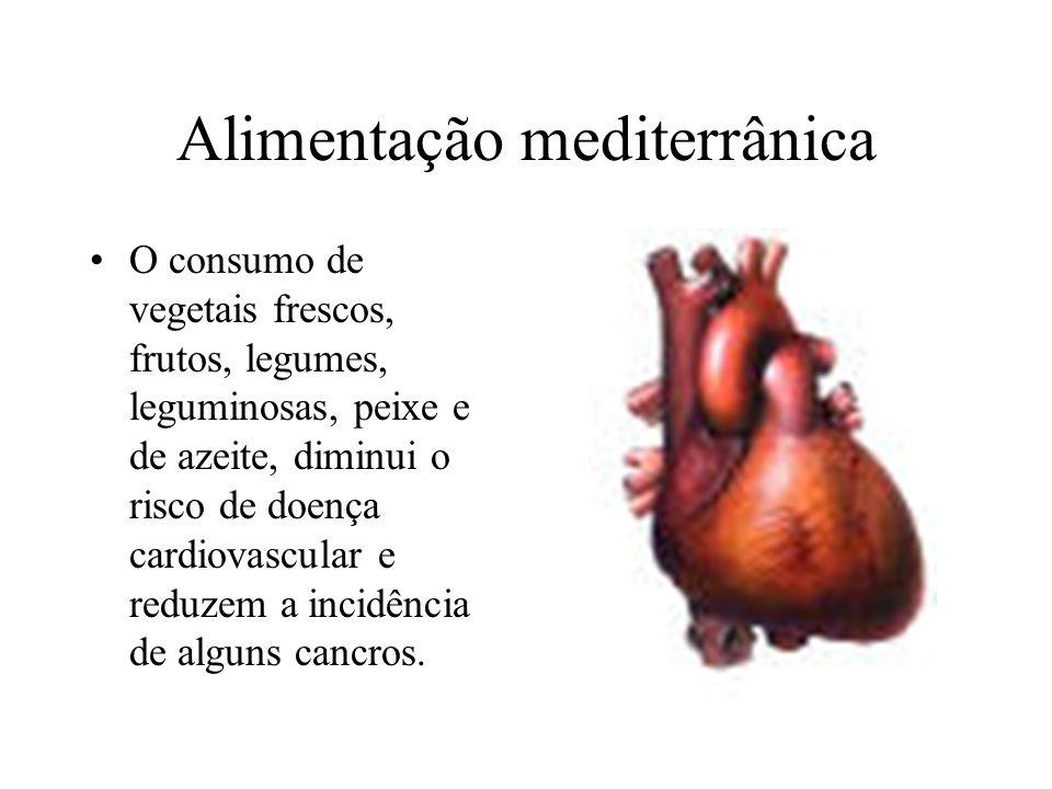 Hábitos alimentares Alimentação mediterrânica