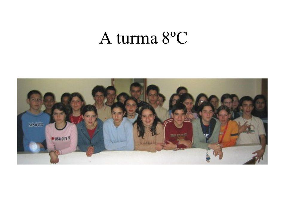 A turma 8ºC A turma C do oitavo ano da Escola Secundária Anselmo de Andrade é constituída por 27 alunos, 12 rapazes e 15 raparigas, com uma média de i