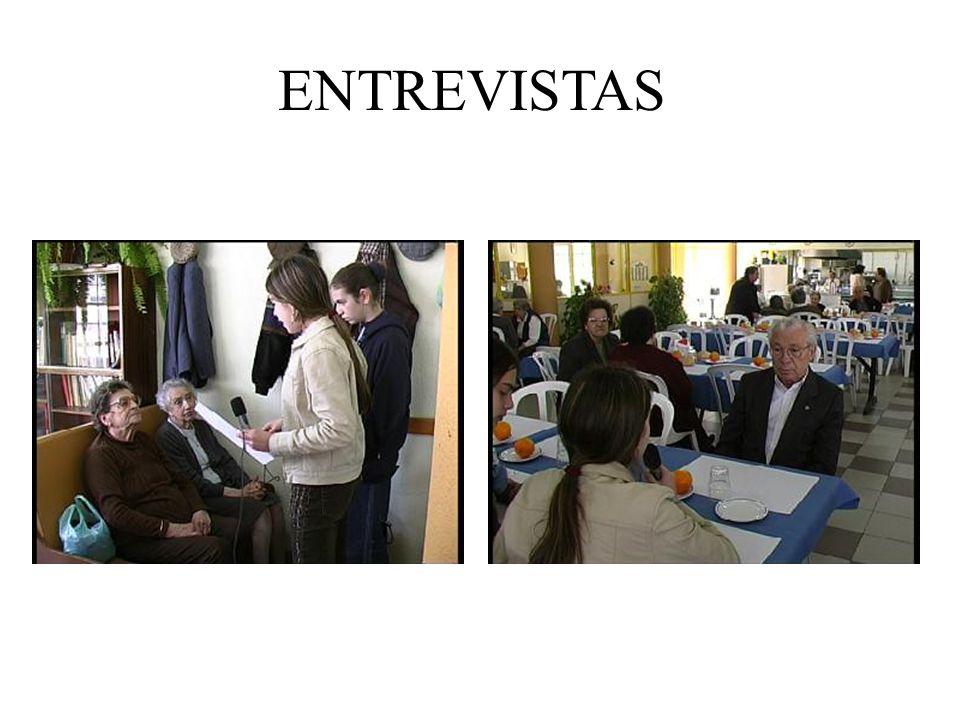 Entrevistas Objectivo: Conhecer os hábitos alimentares actuais dos idosos e os que tinham em jovens. Público-alvo: Quatro idosos. URPICA (Centro de Di