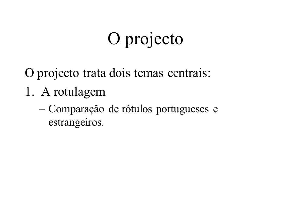 O projecto O projecto trata dois temas centrais: 1.