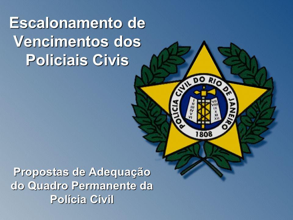 Escalonamento de Vencimentos dos Policiais Civis Propostas de Adequação do Quadro Permanente da Polícia Civil