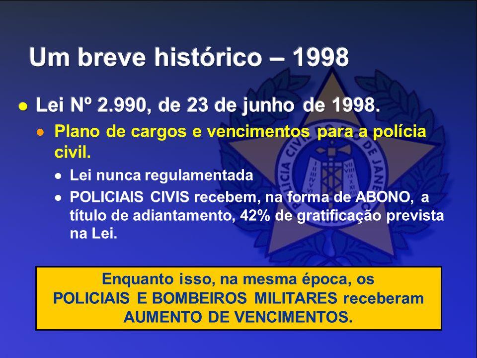Enquanto isso, na mesma época, os POLICIAIS E BOMBEIROS MILITARES receberam AUMENTO DE VENCIMENTOS.
