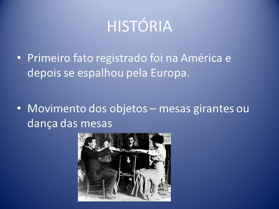 HISTÓRIA Primeiro fato registrado foi na América e depois se espalhou pela Europa.