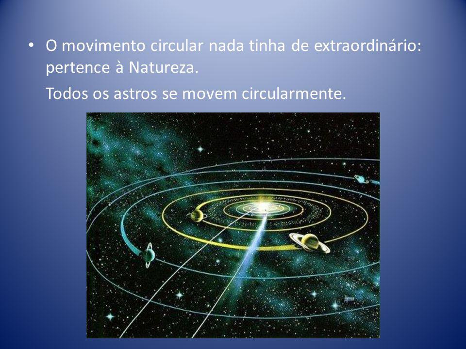 O movimento circular nada tinha de extraordinário: pertence à Natureza.