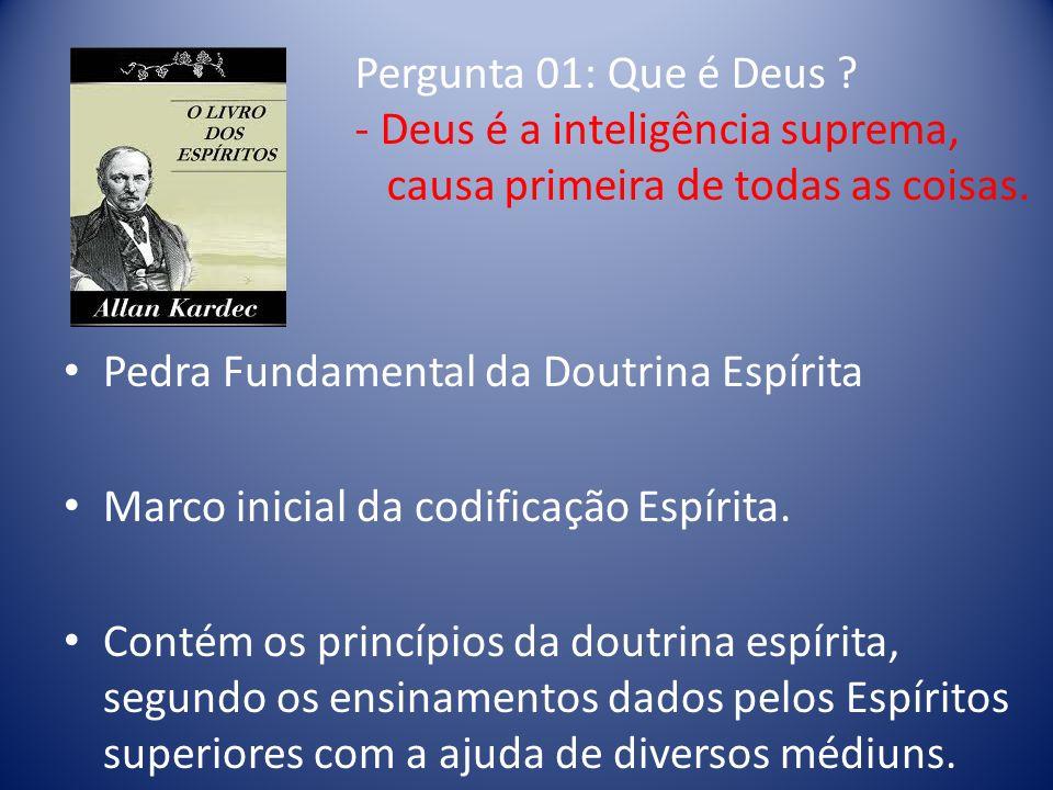 Pedra Fundamental da Doutrina Espírita Marco inicial da codificação Espírita.