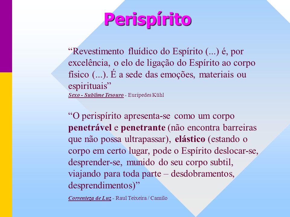 Perispírito Revestimento fluídico do Espírito (...) é, por excelência, o elo de ligação do Espírito ao corpo físico (...).