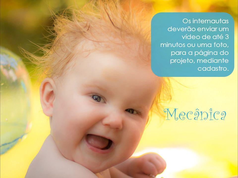 Os internautas deverão enviar um vídeo de até 3 minutos ou uma foto, para a página do projeto, mediante cadastro. Mecânica