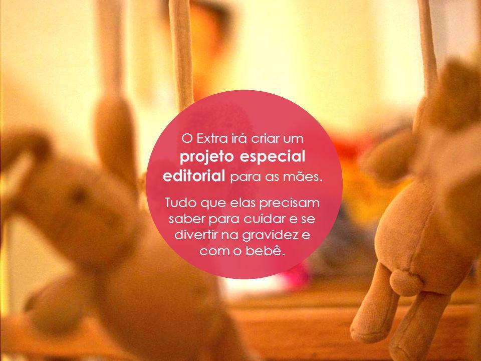 A nova subeditoria Bebê e Gravidez será lançada dentro do canal Mulher, no site do Extra, com ampla divulgação também na mídia impressa.
