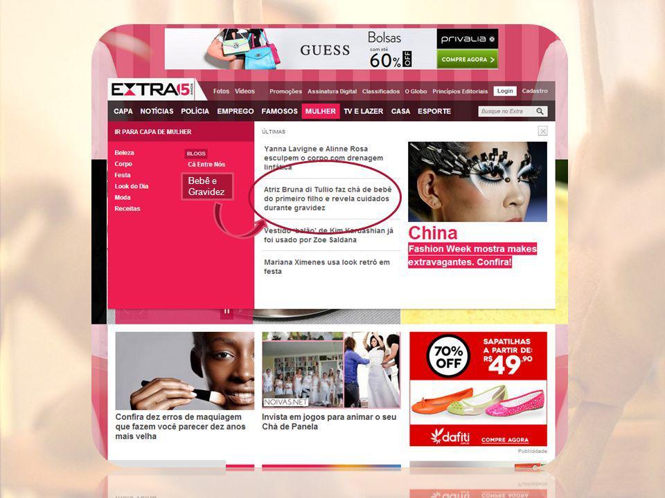 Números do Extra O site do Extra teve 24% dos seus visitantes únicos navegando em sites do segmento de família e educação infantil no mês de Fevereiro.