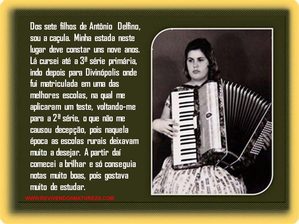 Irene Alvina Ferreira de Sousa conhecida por Irene Alvina é filha de Antonio Delfino Filho e Alvina Maria de Jesus, ele fazendeiro e ela do lar. Nasci
