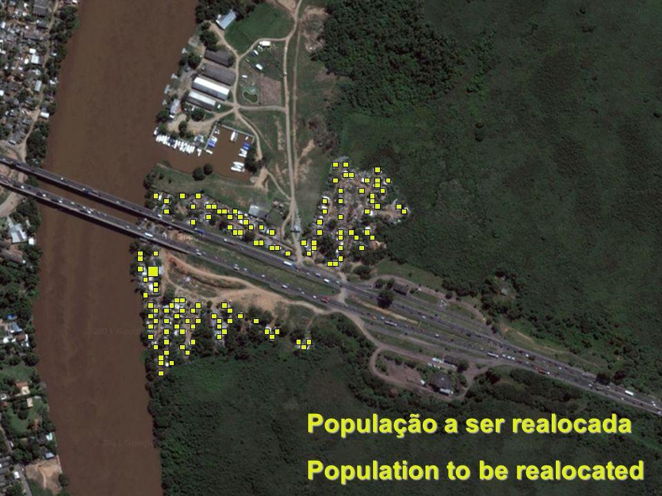 Área de intervenção População a ser realocada Population to be realocated