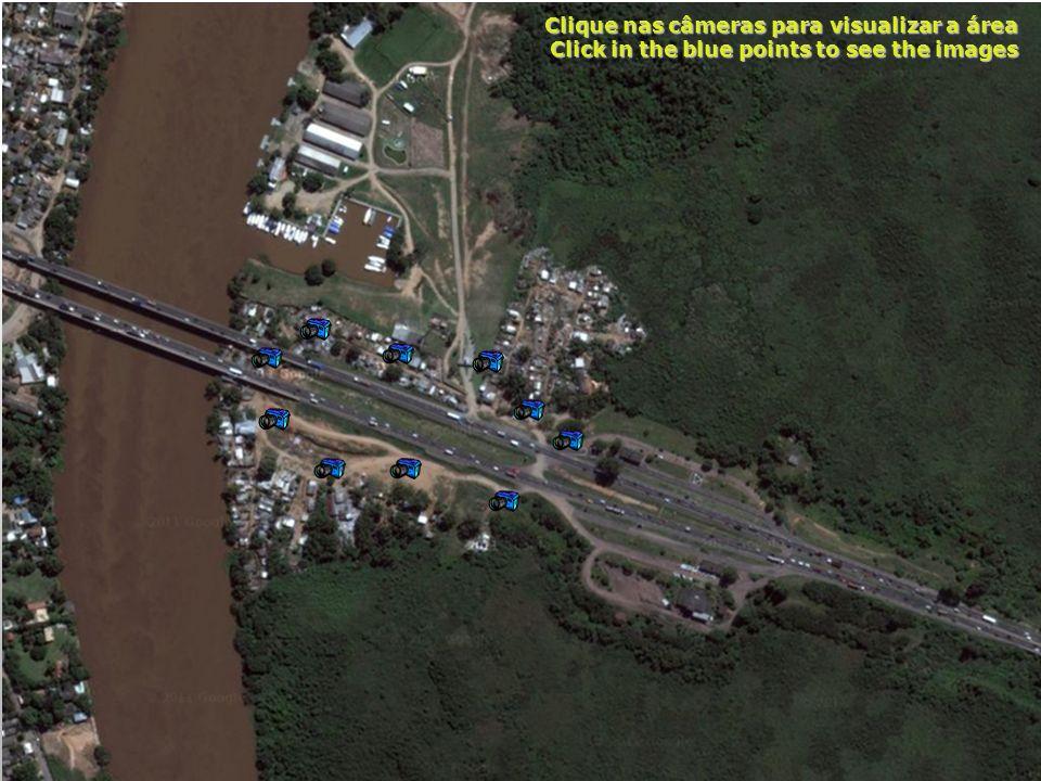 Clique nas câmeras para visualizar a área Click in the blue points to see the images