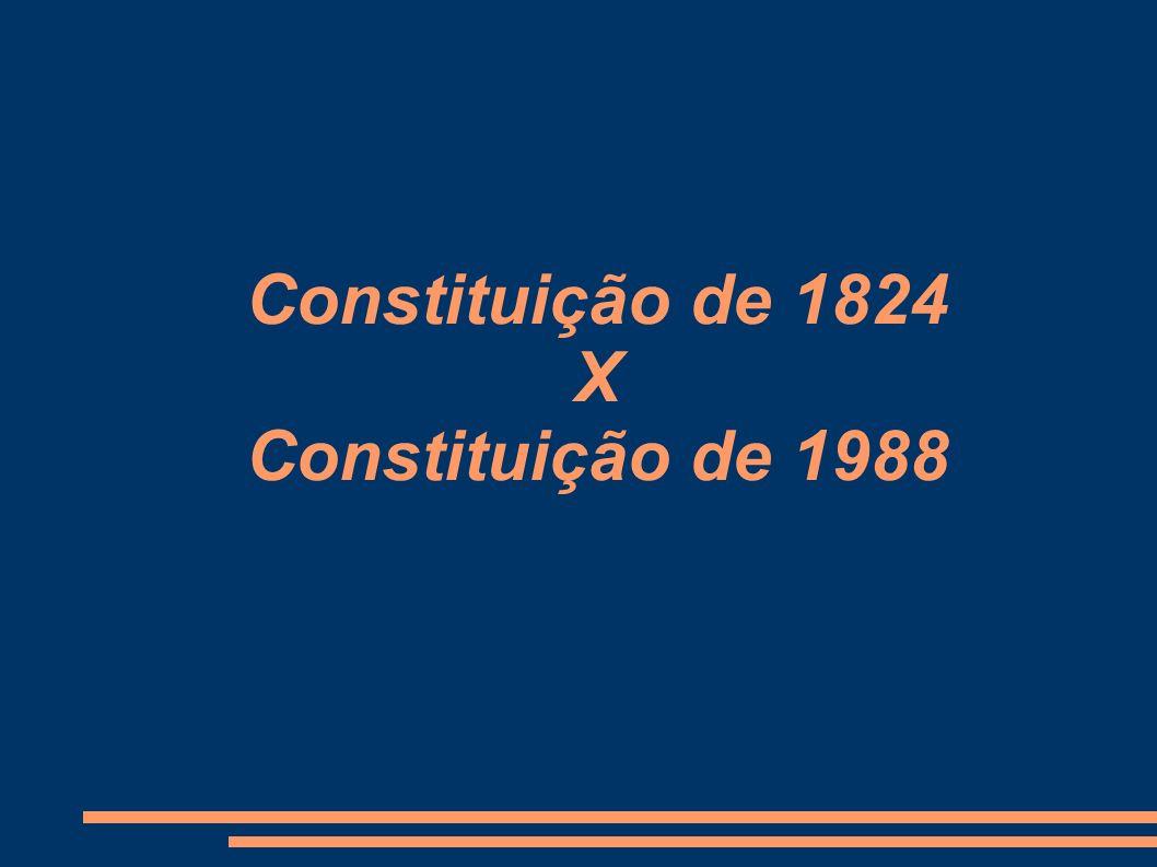 Constituição de 1824 X Constituição de 1988