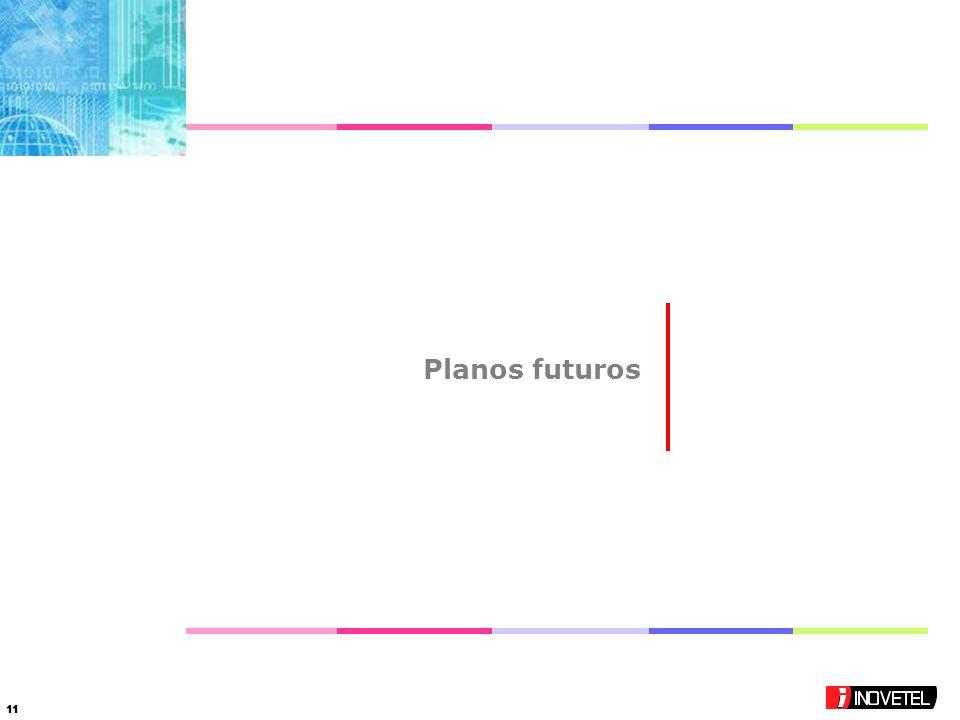 11 Planos futuros