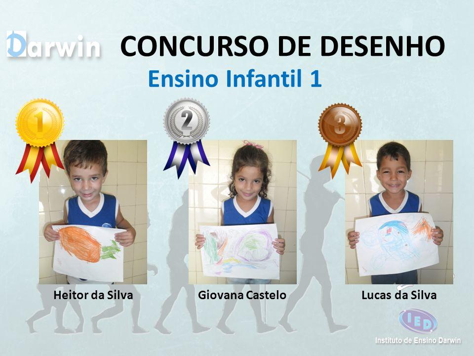CONCURSO DE DESENHO Ensino Infantil 1 Lucas da SilvaGiovana CasteloHeitor da Silva