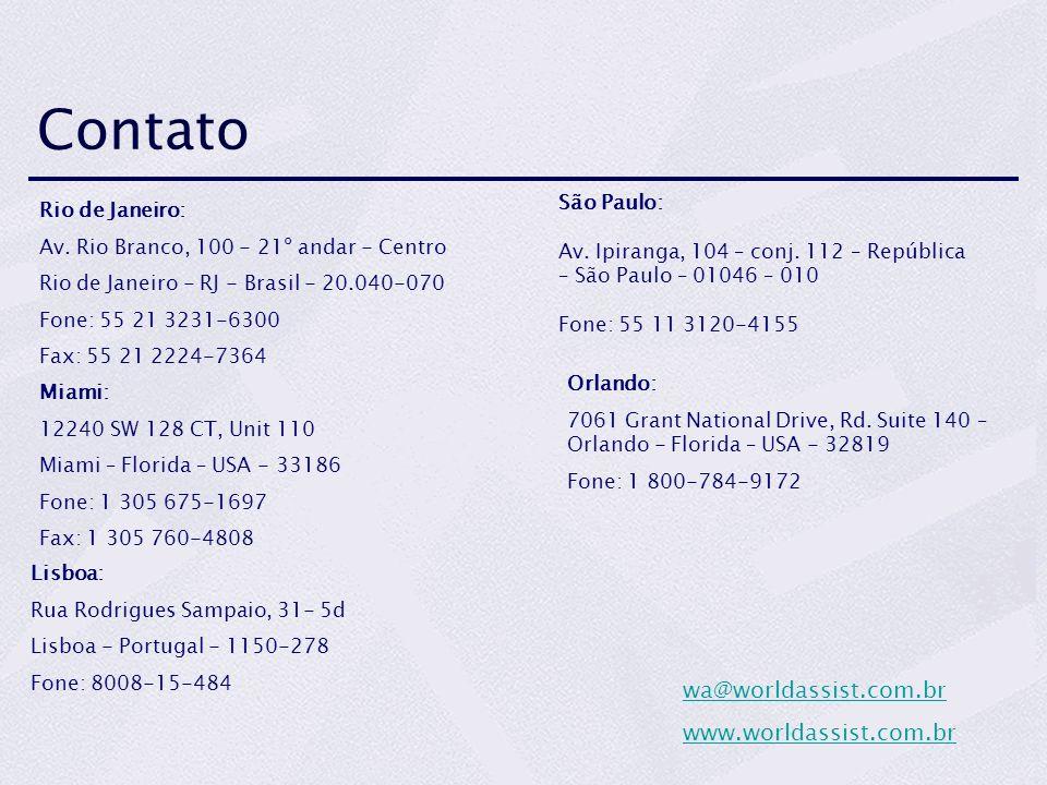 Contato Rio de Janeiro: Av.