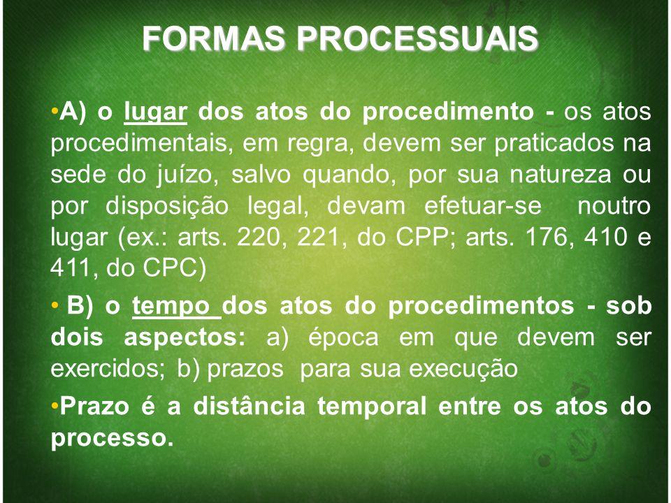 QUANTO À FORMA Documentação dos atos processuais:Documentação dos atos processuais: informatização do processo judicial.
