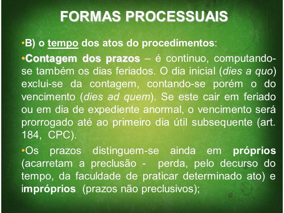 MODO DO PROCEDIMENTO A) LinguagemA) Linguagem - oral ou escrita – em português B) AtividadeB) Atividade - o impulso do procedimento pode ser atribuído às partes ou ao juiz.