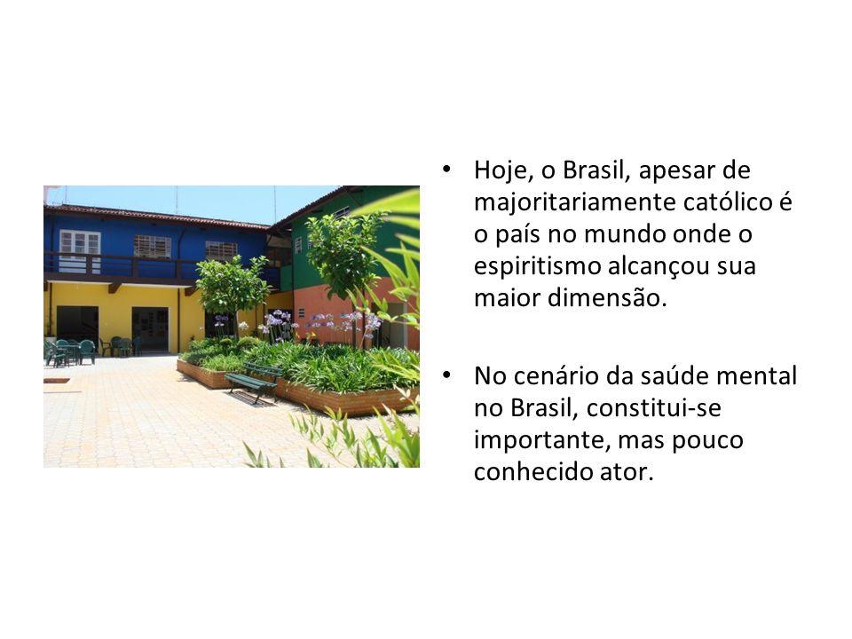 Hoje, o Brasil, apesar de majoritariamente católico é o país no mundo onde o espiritismo alcançou sua maior dimensão. No cenário da saúde mental no Br