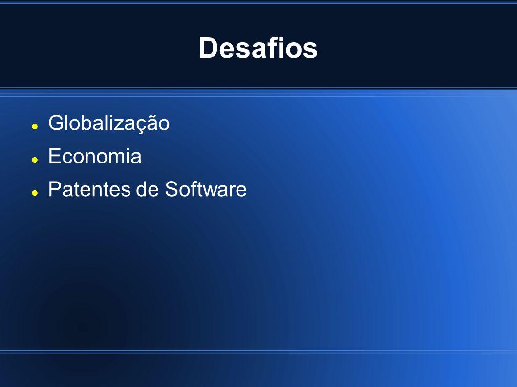 Desafios Globalização Economia Patentes de Software