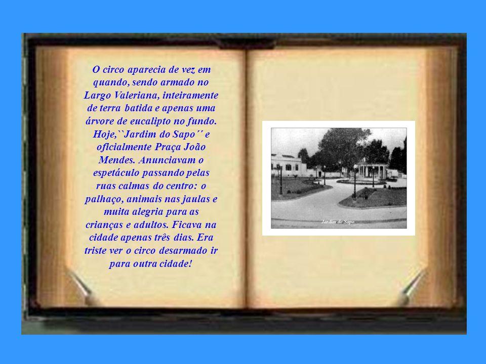 Com a demolição das casas da Rua São José, projeto do Engenheiro Francisco José Longo, apareceu a beleza do Banhado, postal da cidade. cartão postal d