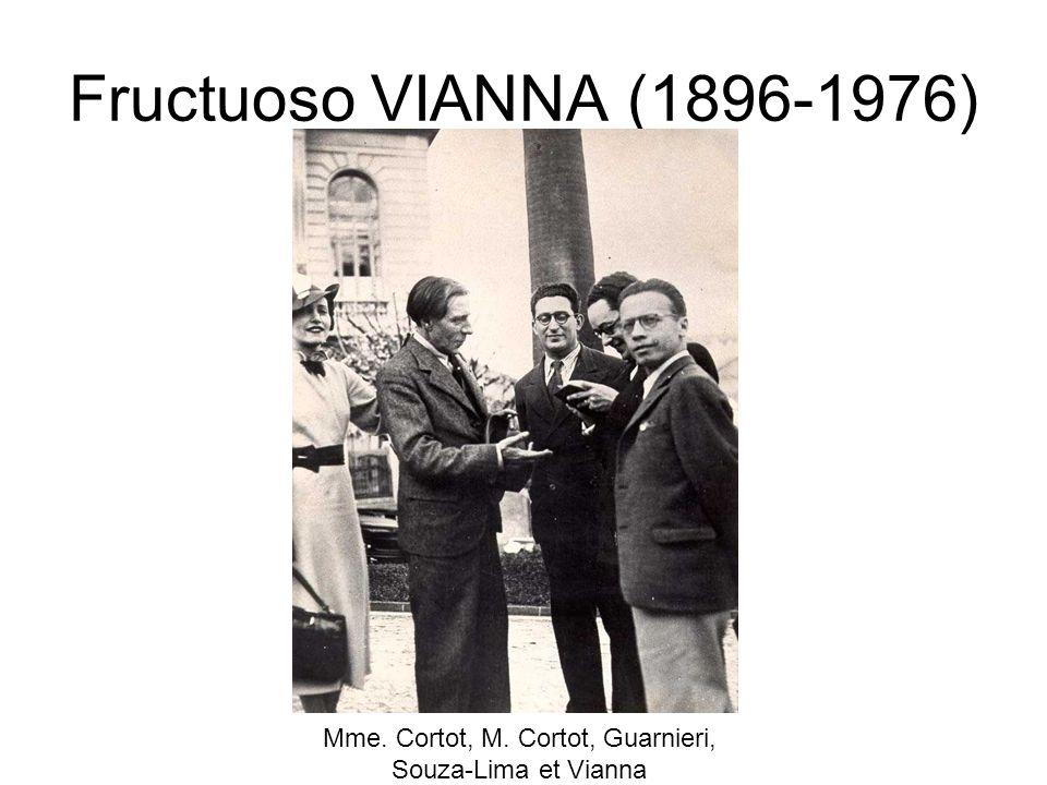 Fructuoso VIANNA (1896-1976) Mme. Cortot, M. Cortot, Guarnieri, Souza-Lima et Vianna