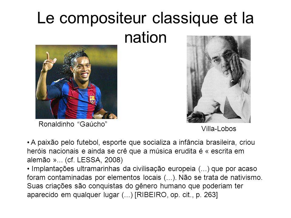 Le compositeur classique et la nation Ronaldinho Gaúcho Villa-Lobos A paixão pelo futebol, esporte que socializa a infância brasileira, criou heróis n