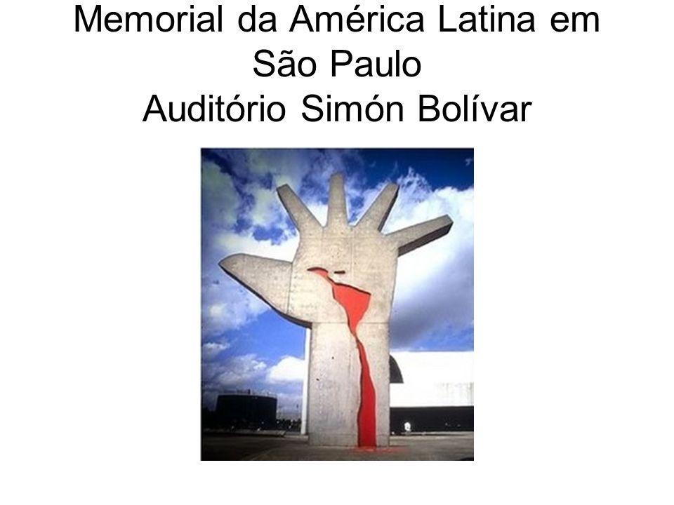 Memorial da América Latina em São Paulo Auditório Simón Bolívar