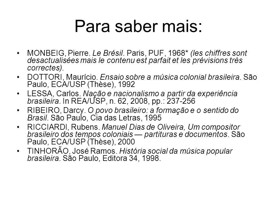 Para saber mais: MONBEIG, Pierre. Le Brésil. Paris, PUF, 1968* (les chiffres sont desactualisées mais le contenu est parfait et les prévisions très co