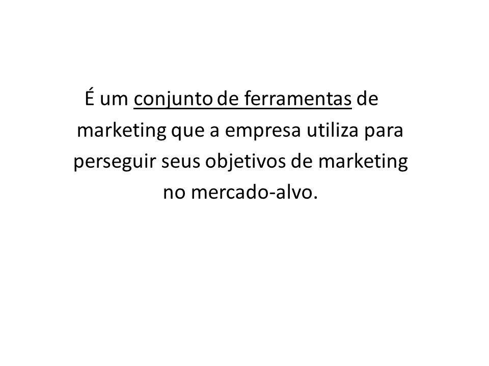 É um conjunto de ferramentas de marketing que a empresa utiliza para perseguir seus objetivos de marketing no mercado-alvo.