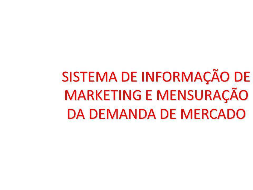 SISTEMA DE INFORMAÇÃO DE MARKETING E MENSURAÇÃO DA DEMANDA DE MERCADO