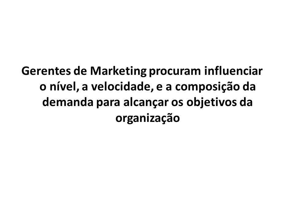 Abrangências Os Profissionais de Marketing envolvem-se no Marketing de: - Bens - Serviços - Experiências - Eventos - Pessoas - Lugares - Propriedades - Organizações - Informações - Idéias