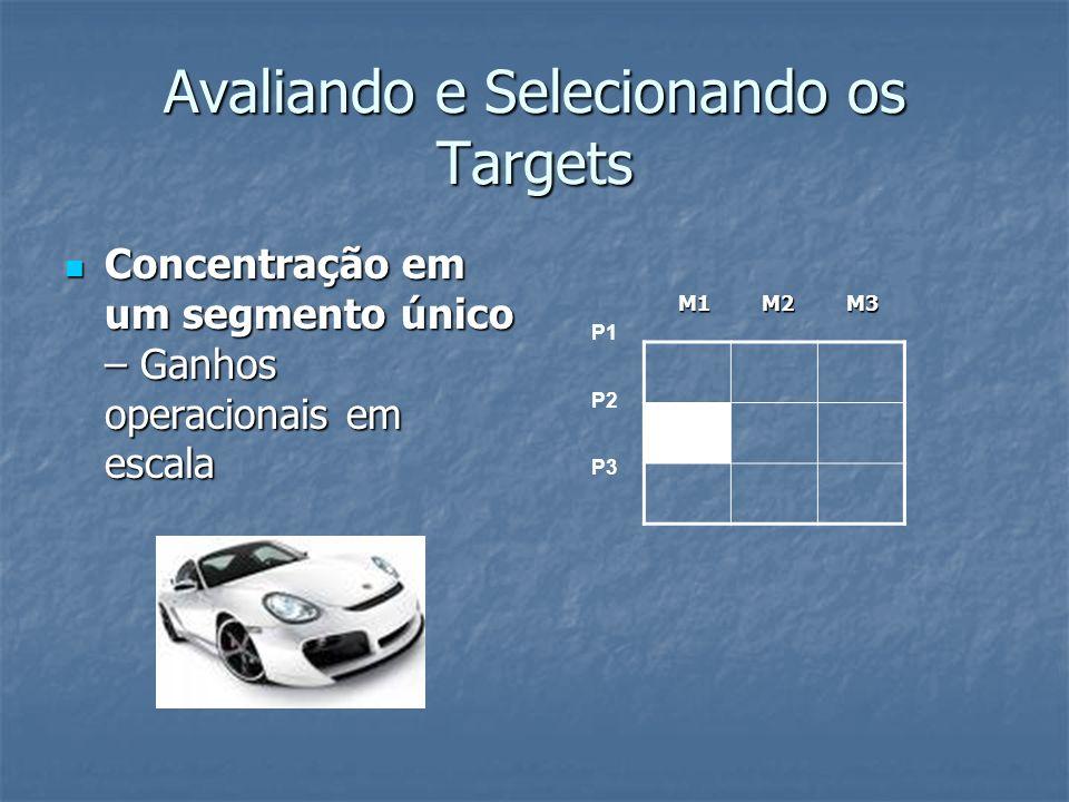 Avaliando e Selecionando os Targets Concentração em um segmento único – Ganhos operacionais em escala Concentração em um segmento único – Ganhos opera