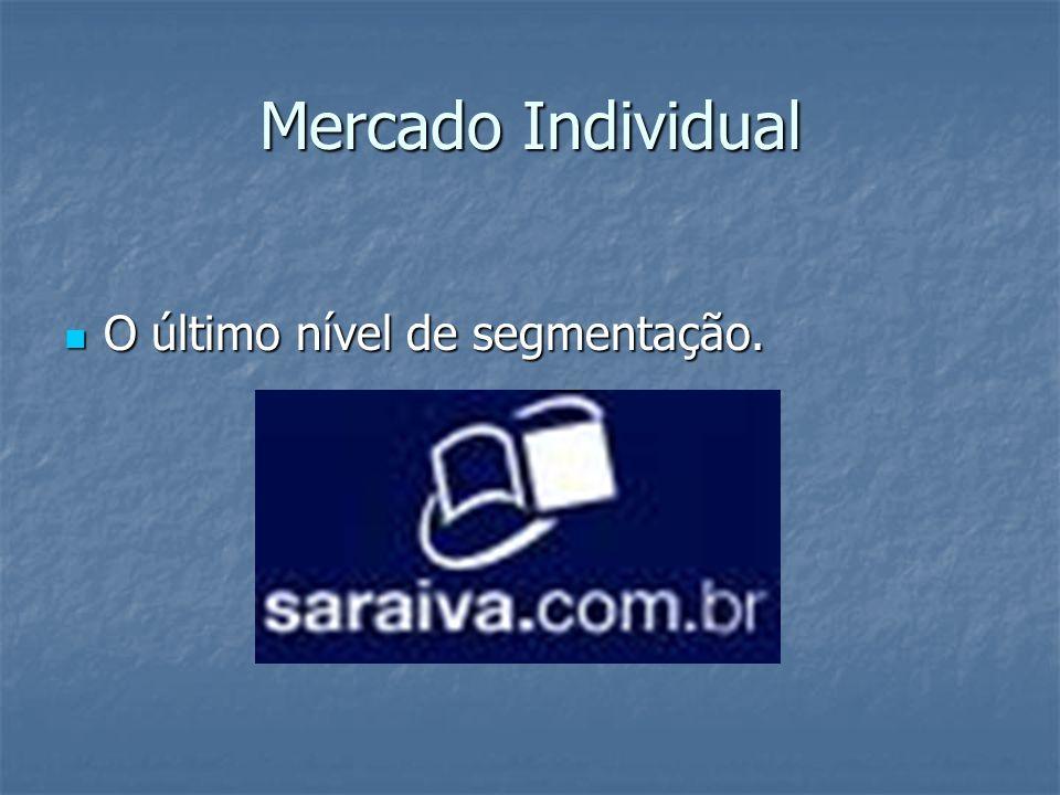 Mercado Individual O último nível de segmentação. O último nível de segmentação.