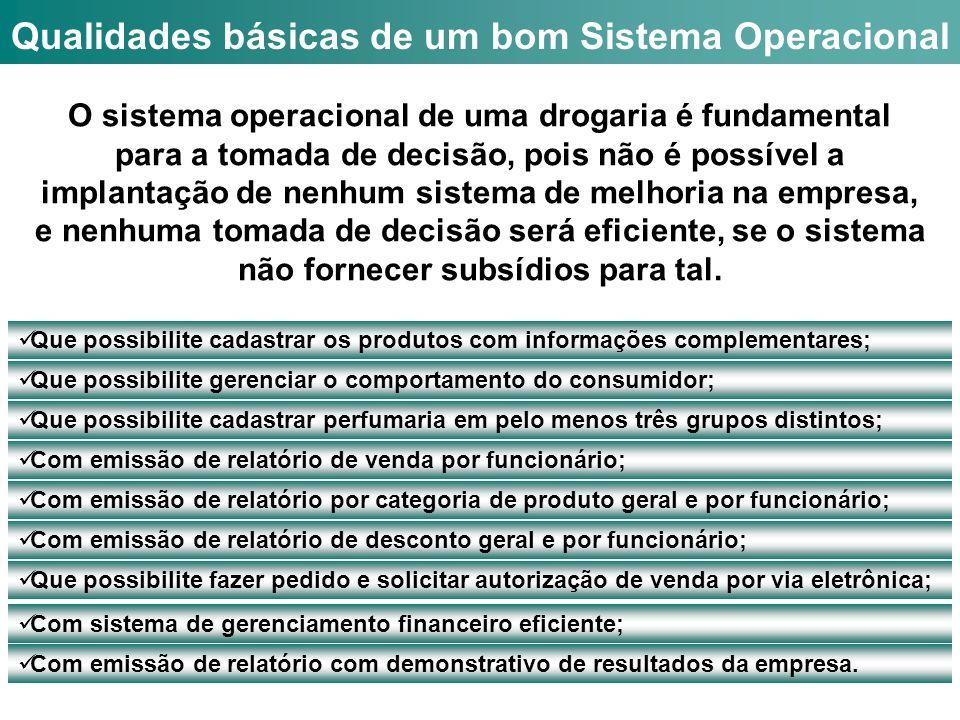 O sistema operacional de uma drogaria é fundamental para a tomada de decisão, pois não é possível a implantação de nenhum sistema de melhoria na empre