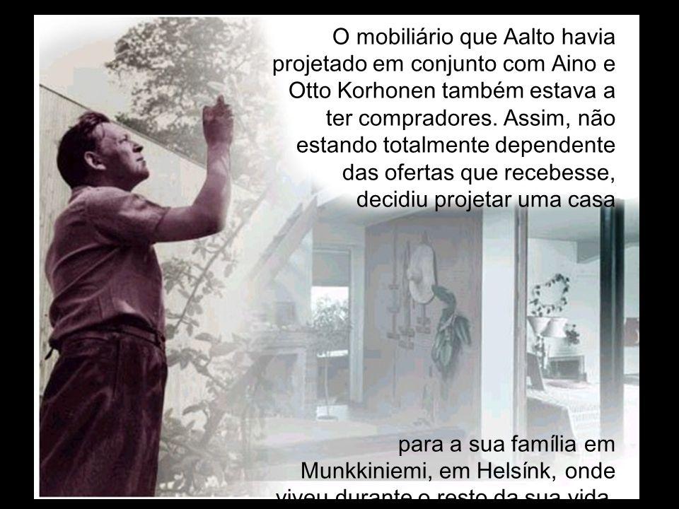 O mobiliário que Aalto havia projetado em conjunto com Aino e Otto Korhonen também estava a ter compradores. Assim, não estando totalmente dependente