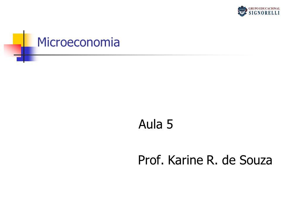 Microeconomia Aula 5 Prof. Karine R. de Souza