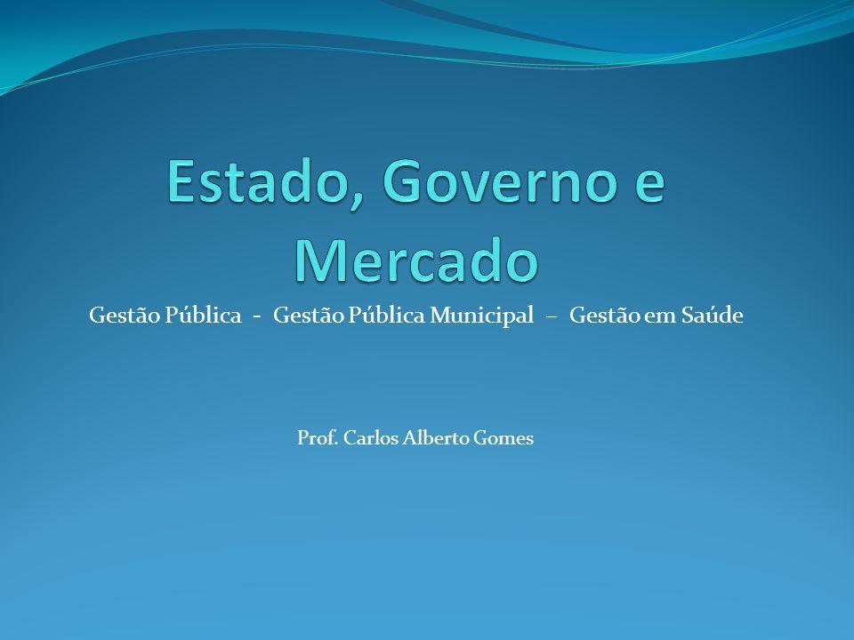 Gestão Pública - Gestão Pública Municipal – Gestão em Saúde Prof. Carlos Alberto Gomes