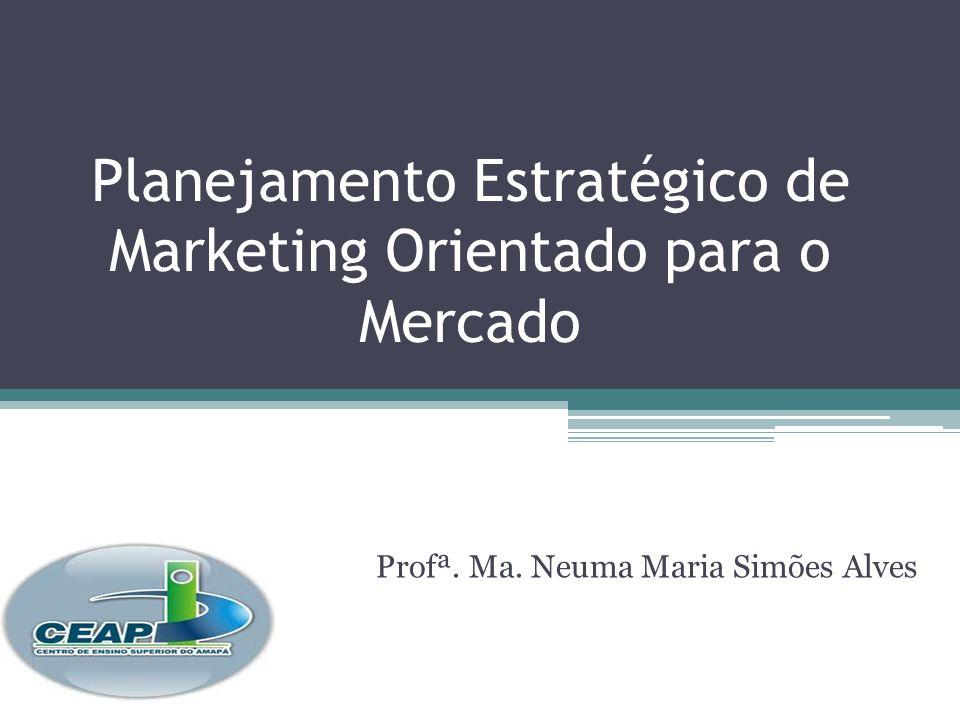 Planejamento Estratégico de Marketing Orientado para o Mercado Profª. Ma. Neuma Maria Simões Alves