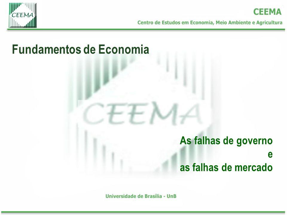 Fundamentos de Economia As falhas de governo e as falhas de mercado