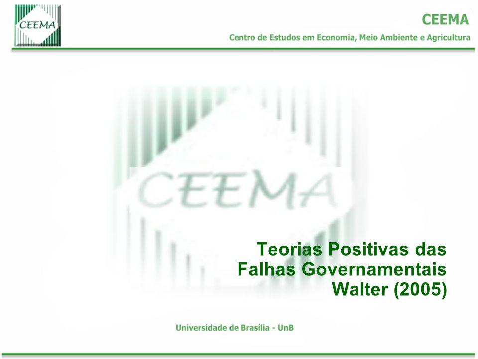 Teorias Positivas das Falhas Governamentais Walter (2005)