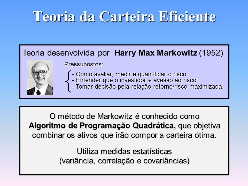 Prof. Hubert Chamone Gesser, Dr. Retornar Carteira Eficiente de Ações
