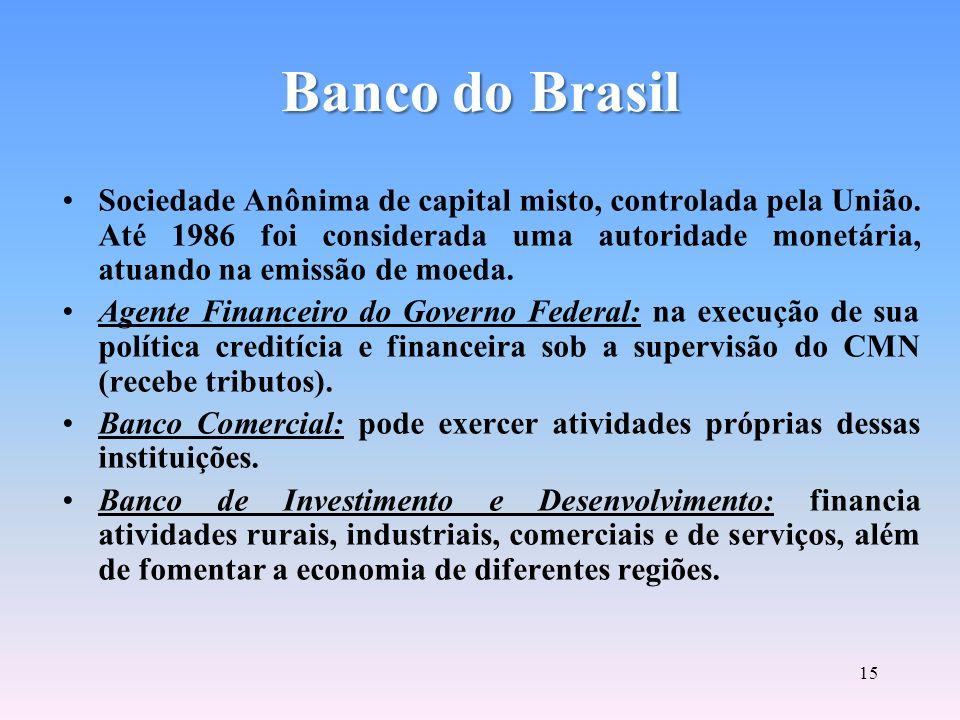 14 Atuação da CVM CVMCVM Instituições Financeiras do Mercado Instituições Financeiras do Mercado Companhias de Capital Aberto Companhias de Capital Ab