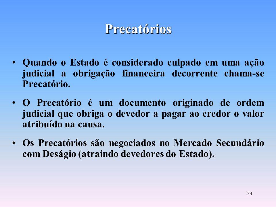 53 Taxas de Juros do Mercado Financeiro TBAN ou Taxa de Assistência do Banco Central: apurada e mensalmente divulgada, se aplica ao mercado aberto. TB