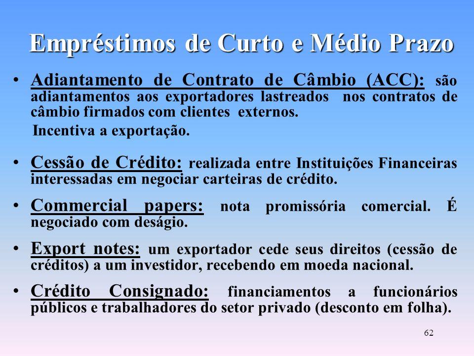 61 Assunção de Dívidas: operação de empréstimo para empresas que dispõem de caixa para quitação de uma dívida e, por tanto, não necessitam de crédito.