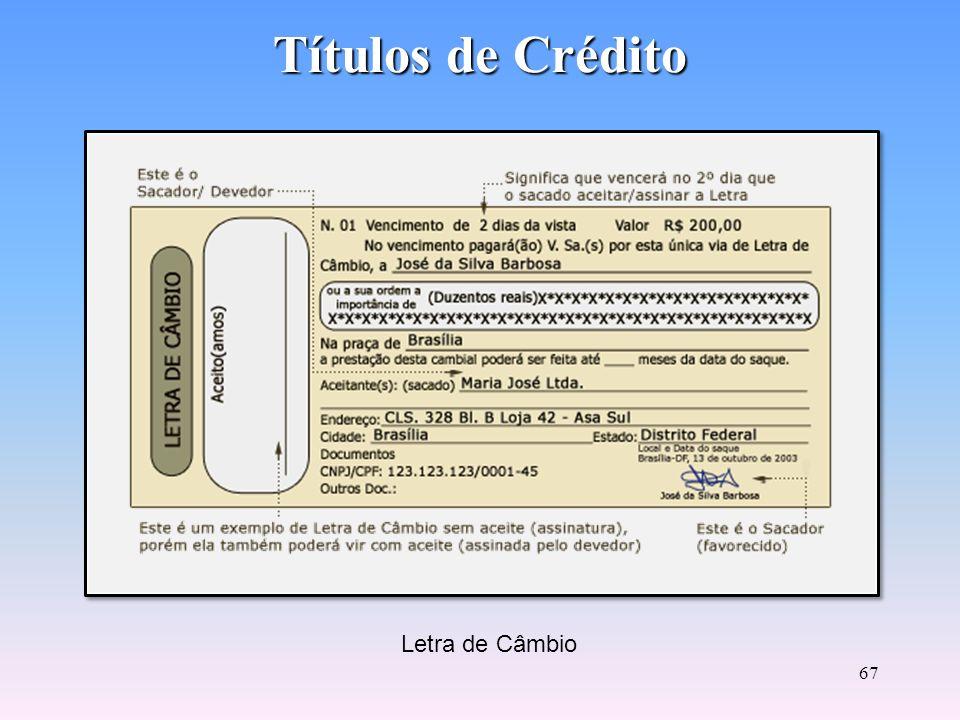 66 Títulos de Crédito A Fatura não é um título de crédito