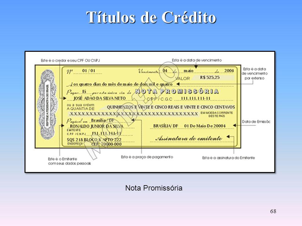 67 Títulos de Crédito Letra de Câmbio