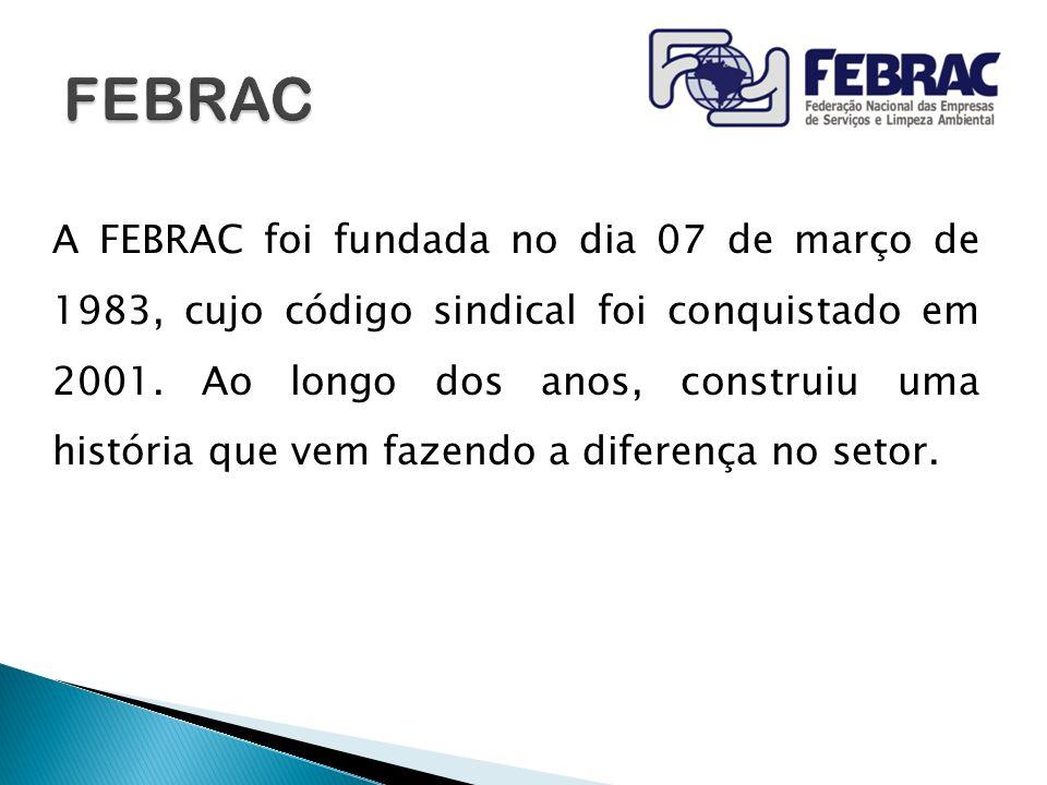 A FEBRAC foi fundada no dia 07 de março de 1983, cujo código sindical foi conquistado em 2001. Ao longo dos anos, construiu uma história que vem fazen