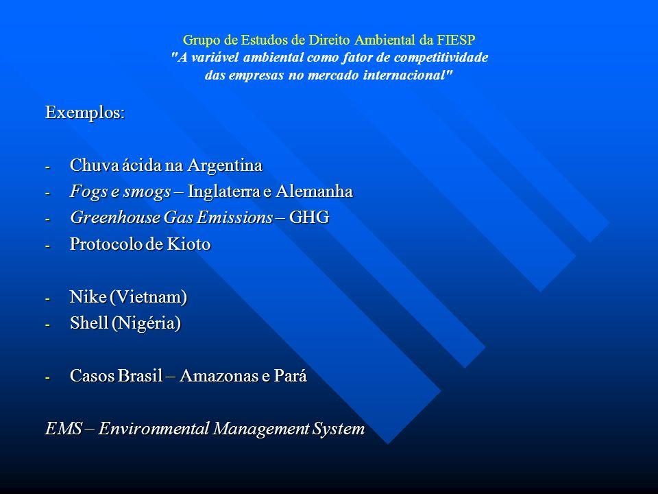 Grupo de Estudos de Direito Ambiental da FIESP A variável ambiental como fator de competitividade das empresas no mercado internacional Atuação estatal A atuação indutora da regulação estatal pode ocorrer basicamente de duas maneiras, por direção ou por indução.
